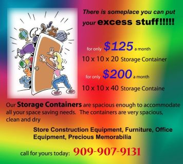 Storage Containers in San Benardino are avail