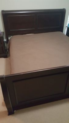 King Sleigh Bed Cherry