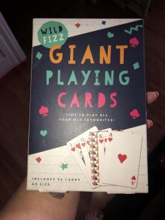 New Giant A5 size playing cards