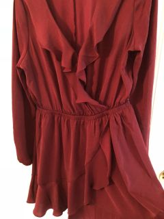 Express dress burgundy color is a new never worn