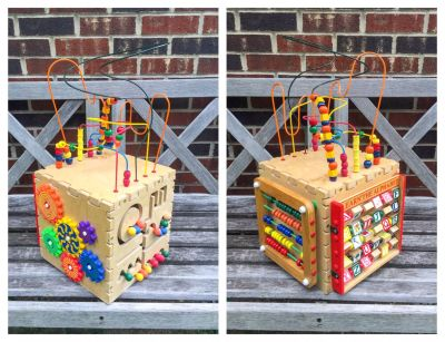 Wood Activity Cube, excellent condition **READ PICK-UP DETAILS BELOW