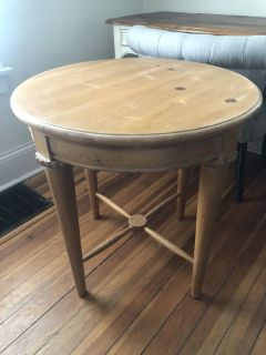 Solid wood table top could use a refinishing