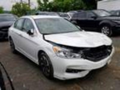 Salvage 2017 HONDA ACCORD EXL for Sale