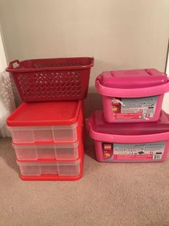 Storage containers and drawers ALL FOR $10