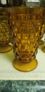 Vintage tea glasses w\ etched glass