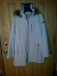 Brand new never worn Calvin Klein winter coat with hood size large excellent condition
