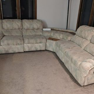 Reclining Sofa and 2 loveseat sectional