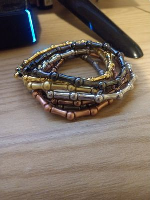 Lia Sophia mixed metals bracelets