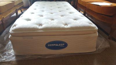 Twin Mattress Plush Top Simmons Deepsleep