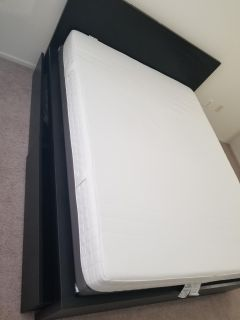 Queen, Malm bed, Espevar slatted bed base and Martand mattress