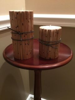 Set of Bamboo Candles