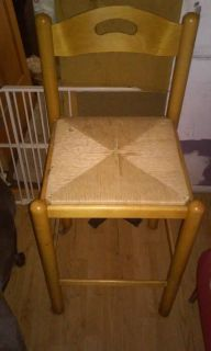 Wooded Rattan Chair