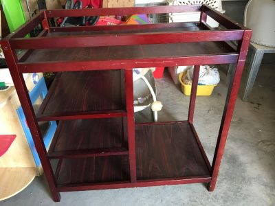 Cherry changing table