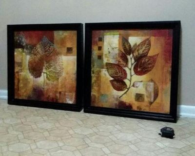 BED BATH & BEYOND/MATCHING WALL DECOR.........EXCELLENT CONDITION