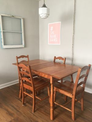 Vintage maple table and chairs