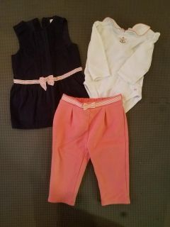 Janie and Jack 6-12 mo outfit