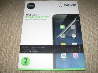 belkin trueclear transparent screen protector for ipad air and air 2