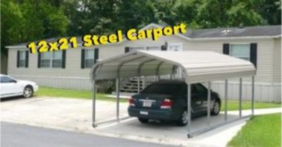 12x21 Steel Carport. Rent to Own No Credit Check