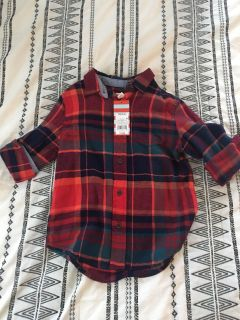 Plaid shirt, Cat and Jack NWT