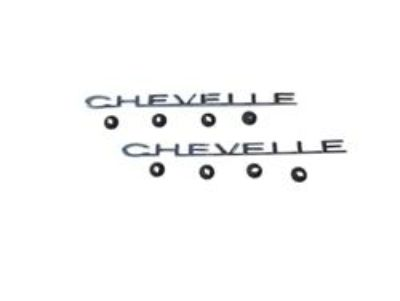 Find 64 Chevelle and El Camino fender Emblem CHEVELLE pair motorcycle in Placentia, California, US, for US $29.00
