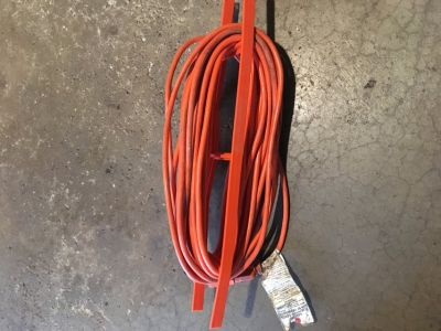 50 foot extension cord and holder