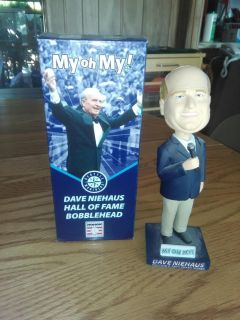 Dave Niehaus Hall Of Fame Bobblehead Doll