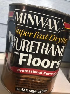 NEW Gallon of Miniwax Super Fast-Drying Polyurethane for Floors