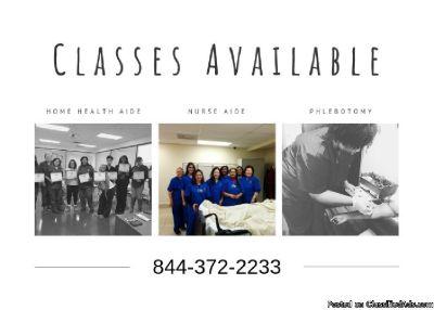 Classes in January – CHHA/C.N.A/Phlebotomy
