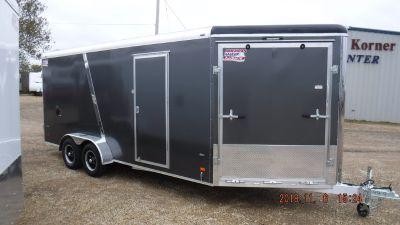 2019 23' american hauler snow / utv enclosed trailer