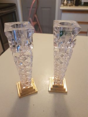 Gorgeous Killarne crystal candle holders
