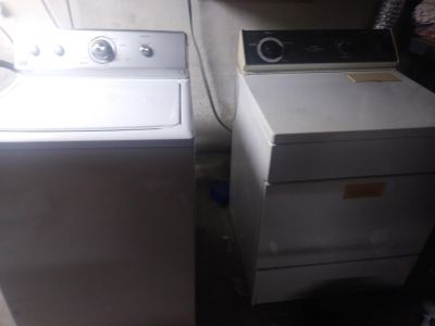 Working washer and dryer
