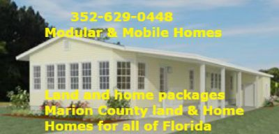 Land and a modular or a mobile home call us Jacobsen Homes factory outlet 352-629-0448