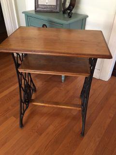 Wrought Iron and Wood Table