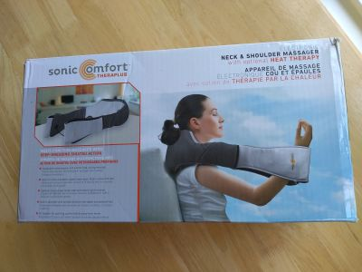 Sonic comfort neck and shoulder massager with optional heat in excellent condition used once