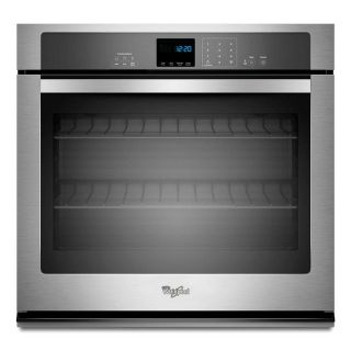 Whirlpool 27 in. Single Electric Wall Oven Self-Cleaning in Stainless Steel WOS51EC7AS