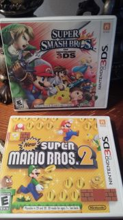 Super Smash Brothers 3 D S and Super Mario Brothers 2