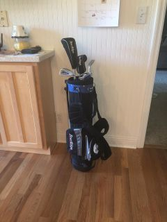 Kids set of junior real golf clubs with bag. Great shape. $25