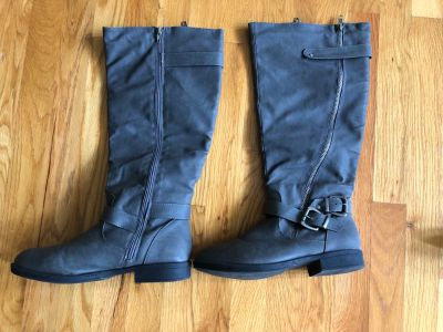 Gray boots size 8.5