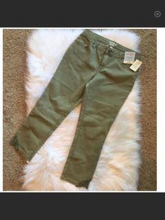 NWT Cat & Jack Olive Skinny Jeans w/Lace Detail. Size 16