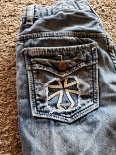 Fly paper jeans