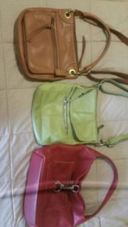 3 purses - 2 fossil & red is DB