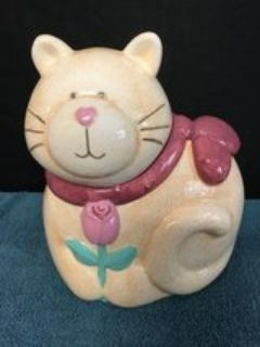 Ceramic Cat Cookie Jar Reduced
