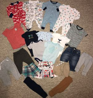 20 Piece Lot of Baby Infant Boys Clothes Size 3 Months