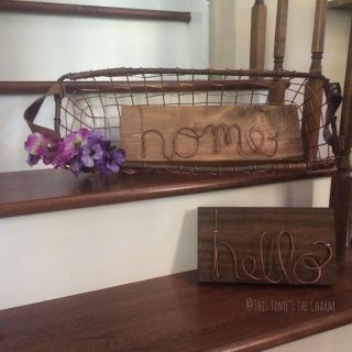 Copper and wood signs handmade