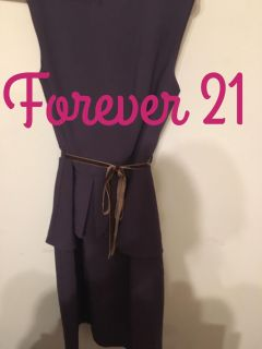 Forever21 purple dress women's Size 4-6 ,length measures 38 in shoulder to knees