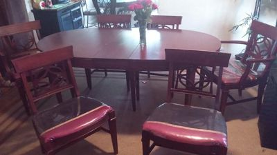 $450, antique dining table