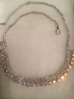 Beautiful Crystal Necklace with Crystal chain purchased at a Bridal Salon. Paid $75. plus!