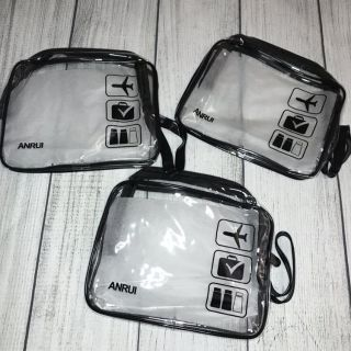 Clear Travel Toiletry Bag - Set of 3