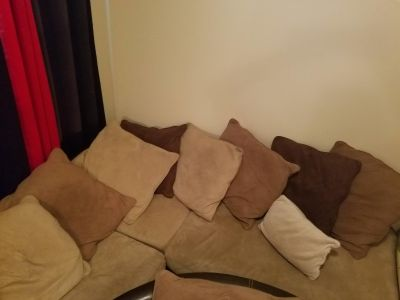 Sectional and over sized chair