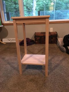 Unfinished end table